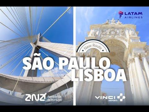 LATAM NOVA ROTA LISBOA - SÃO PAULO | NEW ROUTE TO LISBON - SAO PAULO