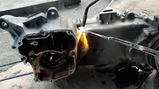 Crankcase Patah Honda Beat akhirnya di Las