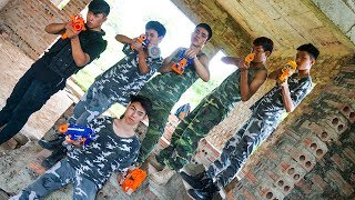 Hihahe Nerf War: SWAT & Group Military Nerf Battle Archer Snipers LOVE in Nerf Movies