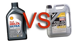 Shell Helix Ultra 5W40 vs Liqui Moly TopTec 4100 5W40 test