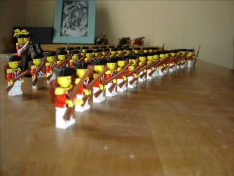 18th Century British lego Army by Piotr Napierała