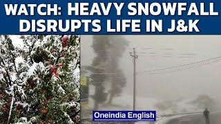 J&K receives heavy rain and snowfall; IMD issues alert for next two days | Watch | Oneindia News