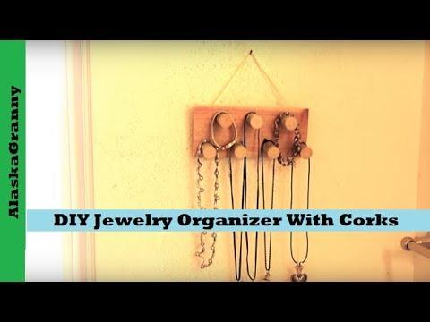 DIY Jewelry Organizer With Corks