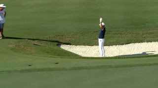 Brooks Koepka's sandy birdie hole out at Hero World Challenge