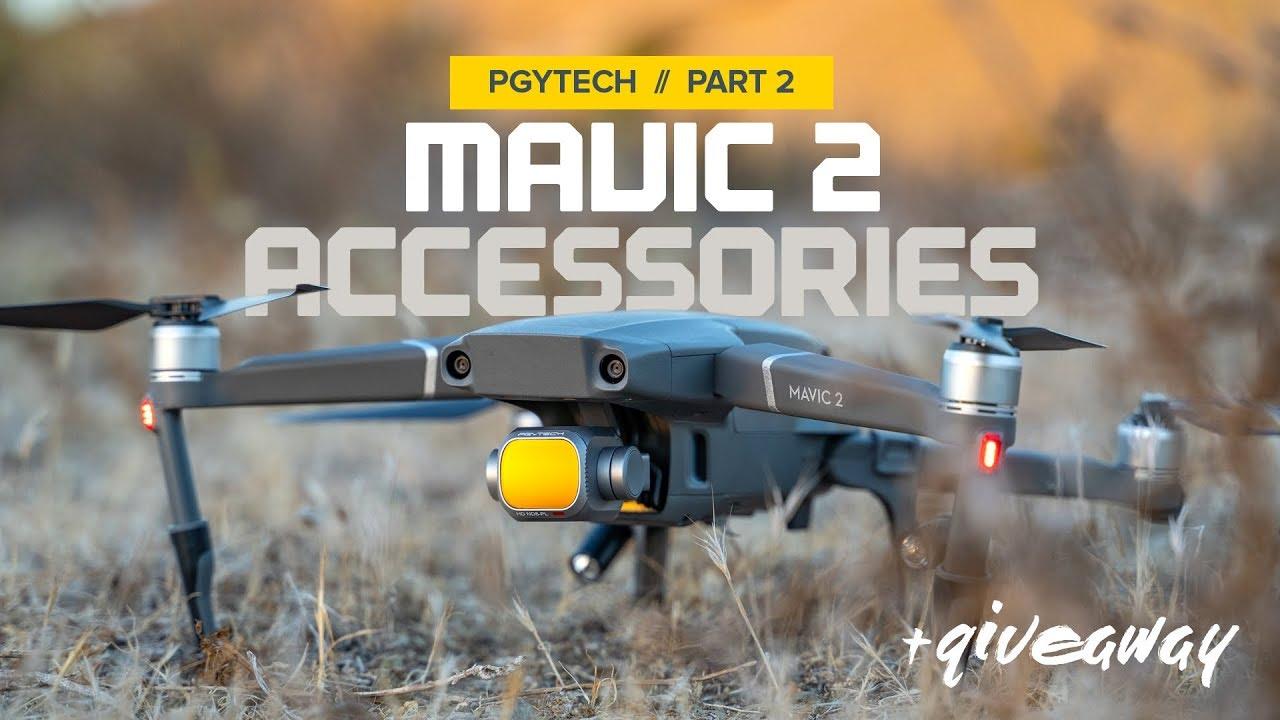 mavic pro 2 accessori  Accessories for the DJI Mavic 2 by PGYTECH - Part 2 - YouTube