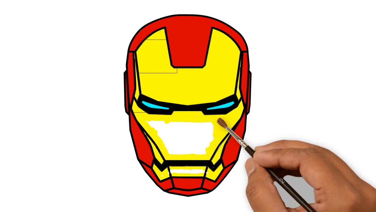 iron man head helmet drawing civil war supper coloring pages