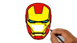 Iron Man Head Helmet Drawing Civil War Supper Coloring Pages Youtube