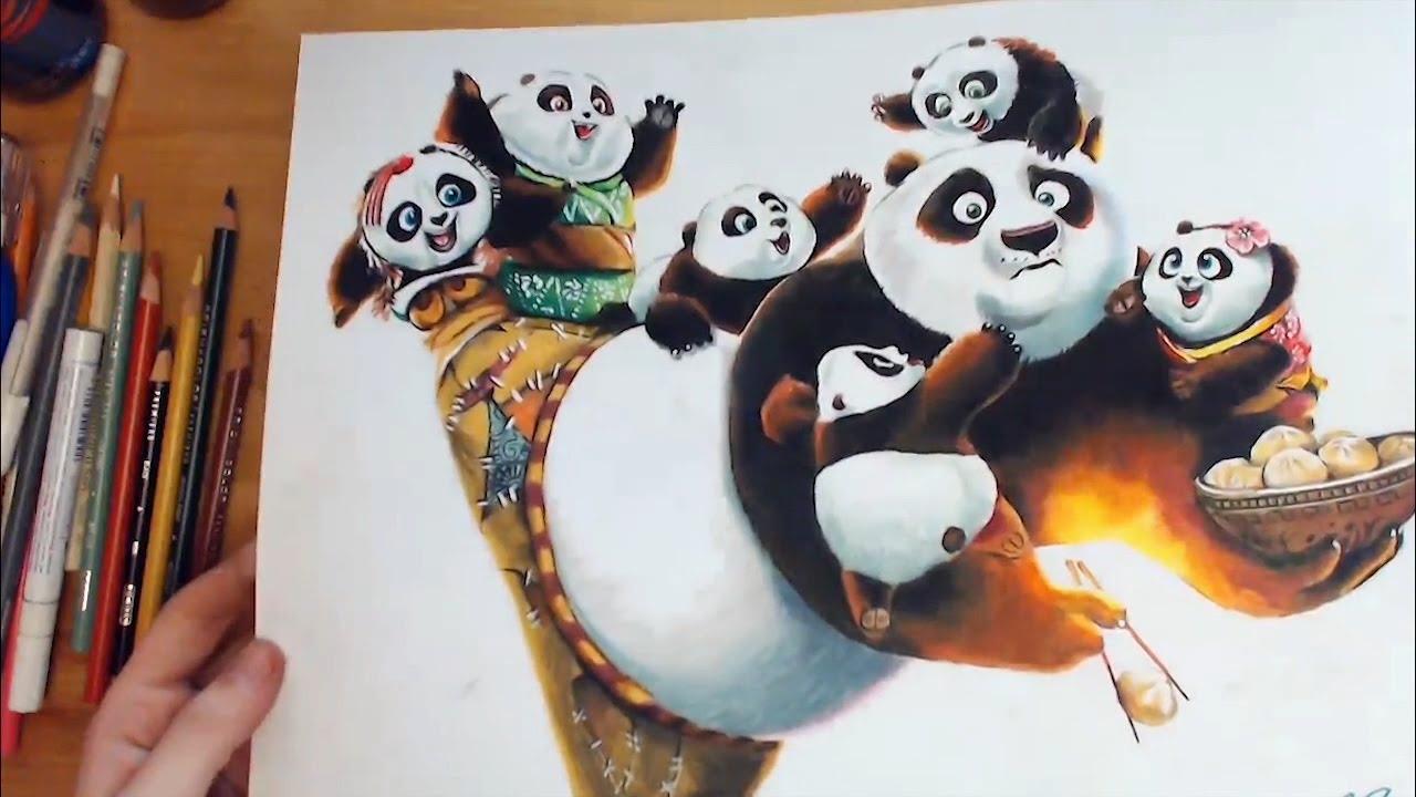 Drawing Po Kung Fu Panda 3 쿵푸팬더3 포 그림 그리기 Youtube