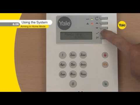 yale premium alarm hsa6400 using the burglar alarm system wirefree rh youtube com Yale Forklifts Parts List Yale Forklift Parts