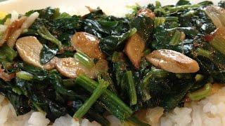 Sauteed Garlic Spinach - Healthy Cooking