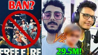 Free Fire Might Get BANNED In INDIA?! | YouTuber To Cross CarryMinati?, Triggered Insaan, Guruji |