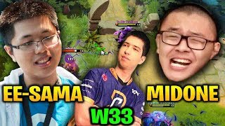 Midone Weaver playing with EE-Sama & Heen Against W33 Tiny