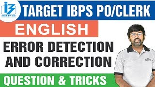 Target IBPS PO/CLERK 2019 | Error Detection and Correction Question & Tricks | By Shreyans Kothari