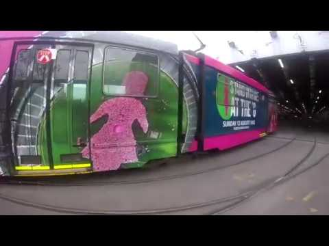 A Melbourne Tram Turns Pink For Breast Cancer Awareness