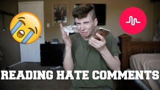 REACTING TO HATE COMMENTS ON MUSICAL.LY | Bruhitszach
