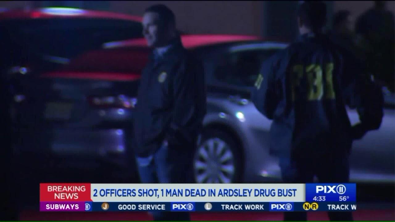 2 officers shot, 1 man dead in Ardsley drug bust shootout