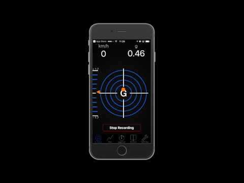 G-Force-Meter App review for iPhone. $8 application that mesure G forces
