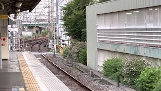 京阪香里園駅6000系急行淀ゆき到着