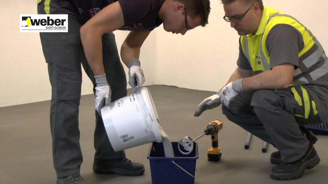 een epoxy vloercoating aanbrengen weber youtube