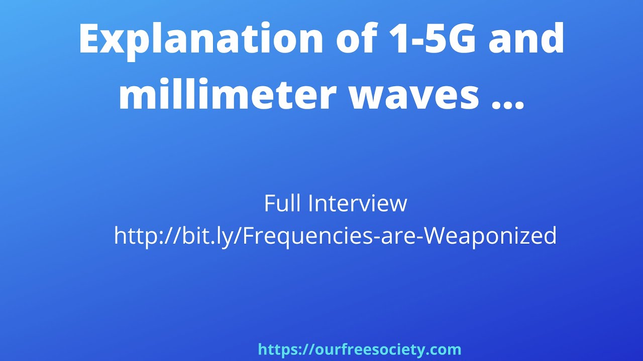 Explanation of how 1 five G and millimeter waves blank us