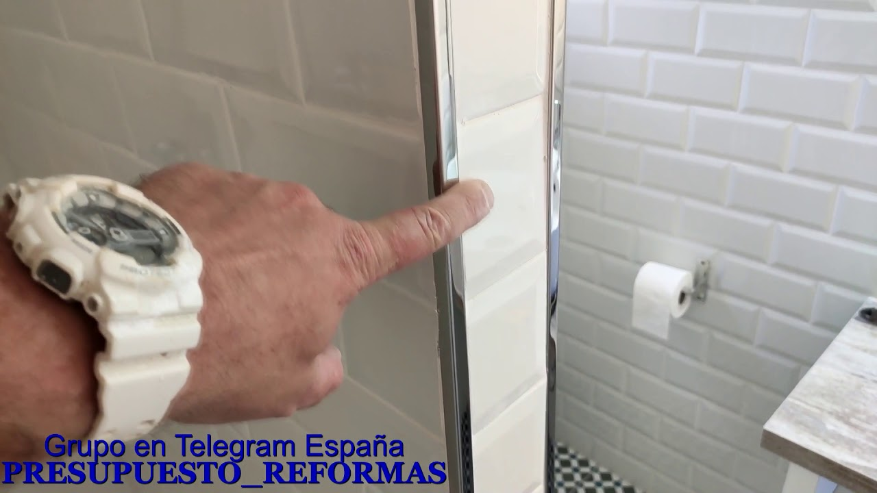 Cómo quitar plástico de esquinero o perfil aluminio para azulejos