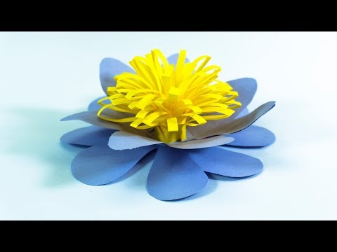 How To Make Fluffy Paper Flowers | Paper Flower Center