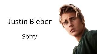 نطق الاغنية Justin Bieber Sorry Lyrics