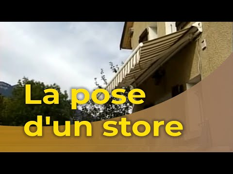 La pose d 39 un store youtube for Regler un store banne