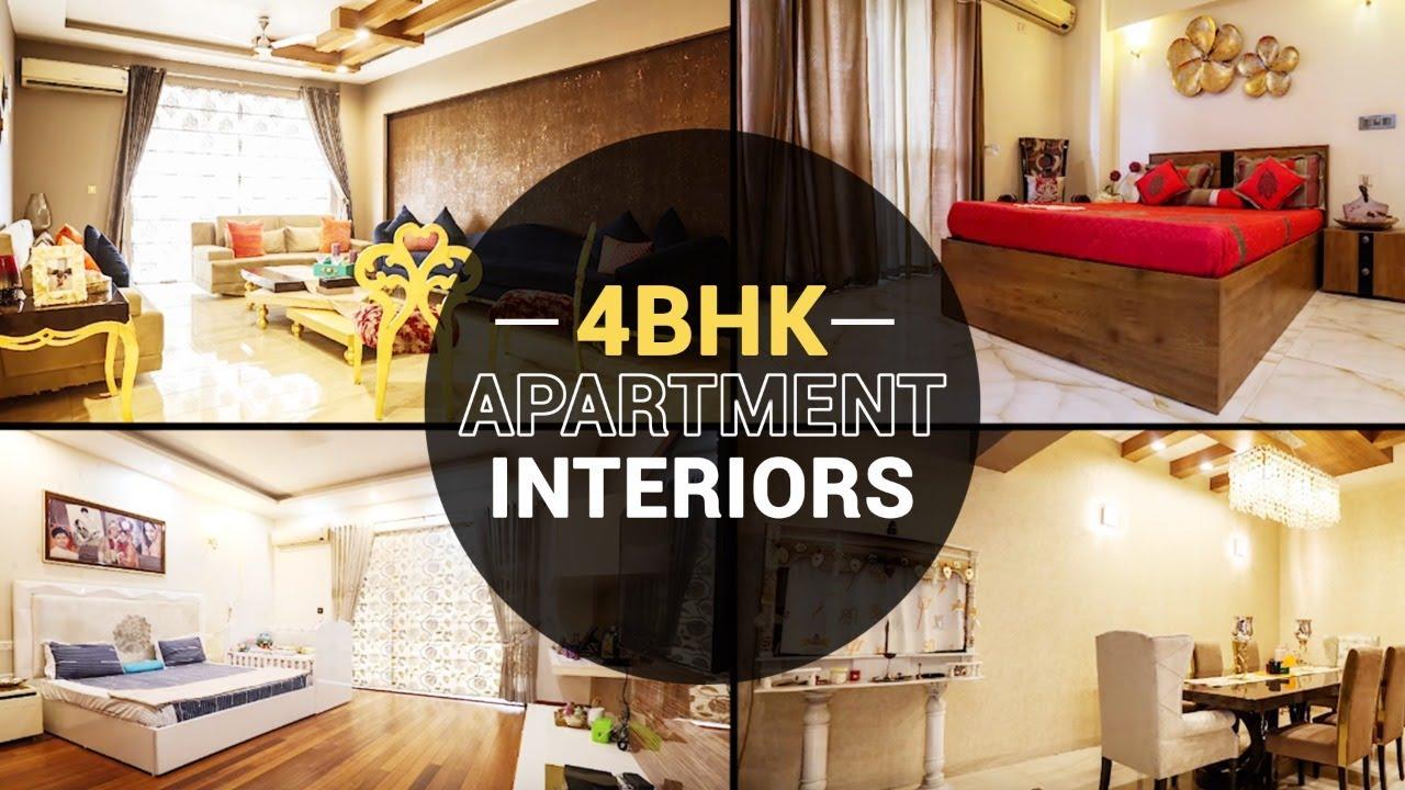 4 Bhk Apartment Interiors Mg Road Interior Designer In Noida Ncr Gurgaon 91 9315950993 Youtube
