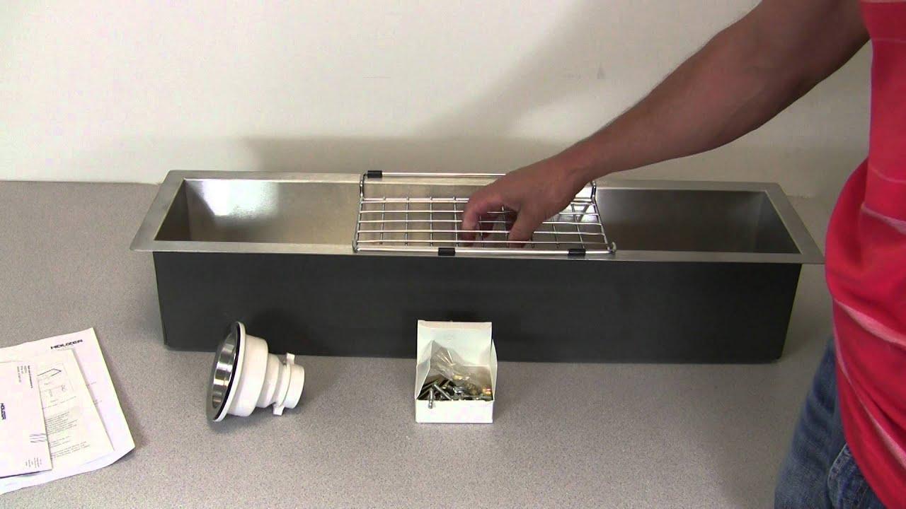 Incroyable Houzer CTB 3285 Contempo Zero Radius Undermount Trough Bar Sink   YouTube