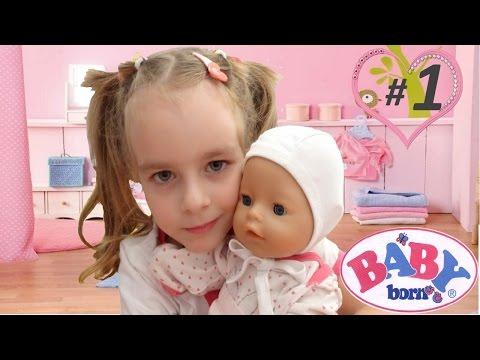 БЕБИ БОН КАК УХАЖИВАТЬ ЗА МАЛЫШОМ  Baby born play for girls
