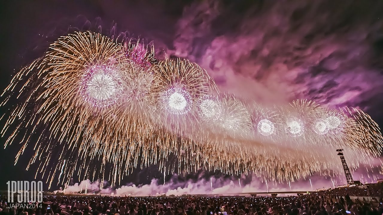 Japan Fireworks 2000 Meter Wide Display 長岡まつり 大花火大会