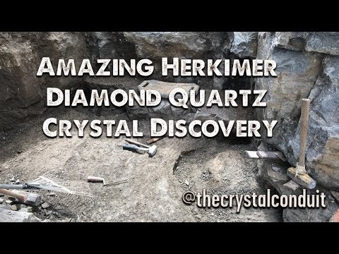 Amazing Discovery Mining Herkimer Diamond Quartz Crystals, Middleville NY, Spring 2018