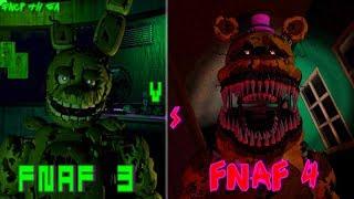 ¿Cuál juego es el peor de la saga de FNaF? (FNaF 3 vs. FNaF 4)
