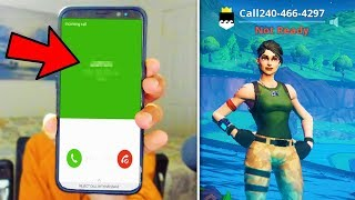 I put my PHONE NUMBER in my Fortnite Name and thirsted every kill.. thumbnail