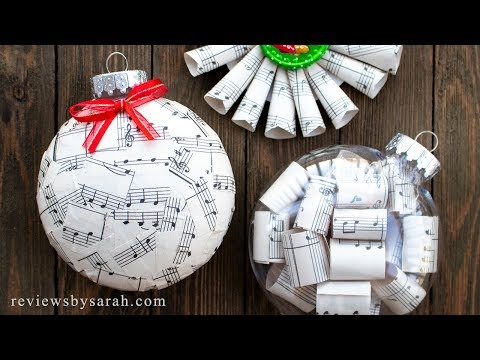 How To Make Sheet Music Ornaments For Christmas - Good For Musicians