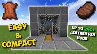 (1.16+) EASIEST WAY TO GET LEATHER IN MINECRAFT!!! - Auto Cow Farm
