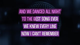 Best Song Ever Karaoke Version by One Direction (Video with Lyrics)