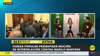 Marilú Martens: FP presentará moción de interpelación