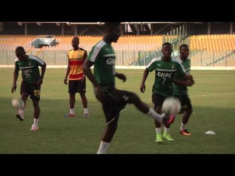 Black Stars day two training, Ebenezer Ofori joins camp, 13 players yet to report