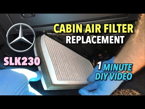 Mercedes SLK230 Cabin Air Filter Replacement 2000–2004 – 1 Minute DIY Video