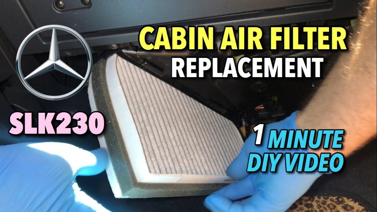 Cabin Air Filter >> Mercedes SLK230 Cabin Air Filter Replacement 2000–2004 - 1 ...