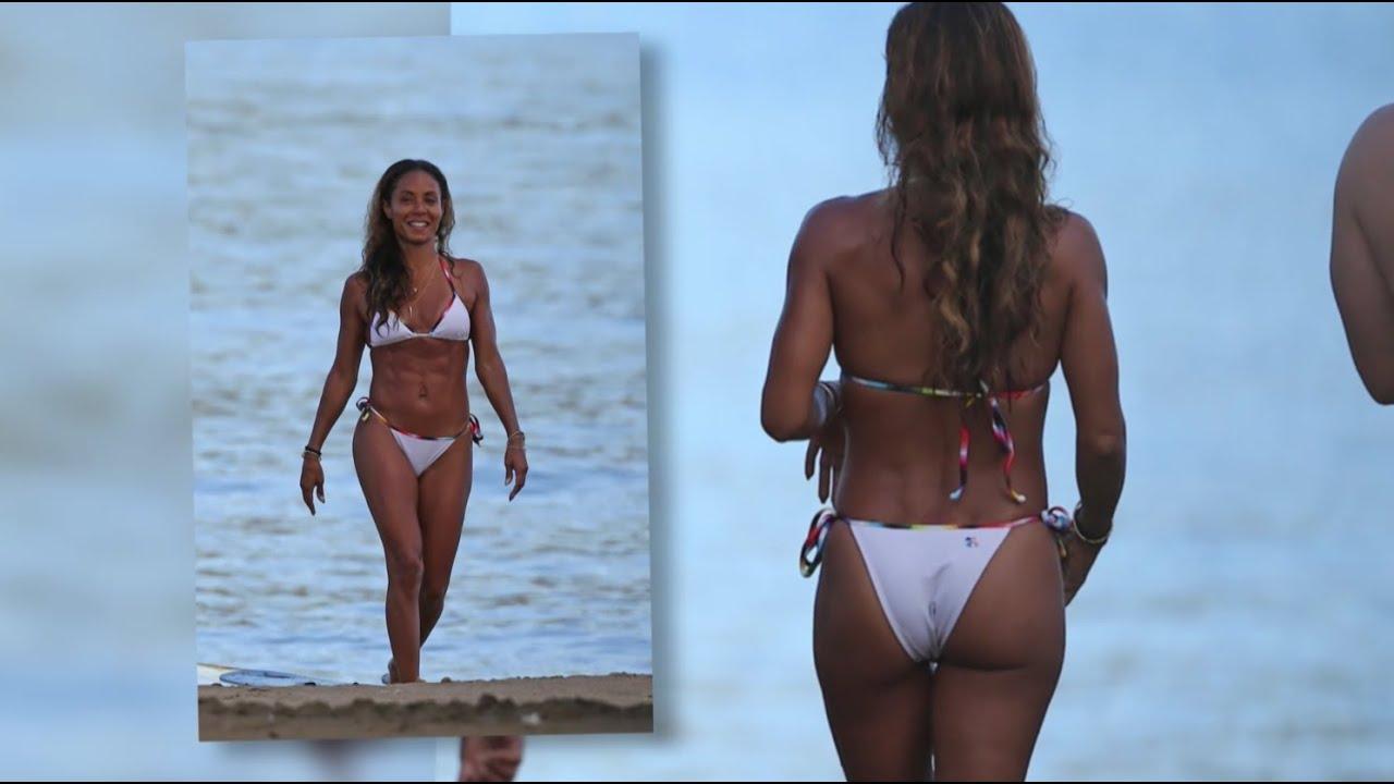 bikini clad jada pinkett smith flaunts her seriously toned