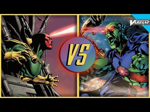 Martian Manhunter VS Vision: Epic Battle!
