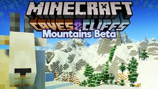 Our First Look at the New Mountains! ▫ Minecraft 1.17 Bedrock Beta ▫ Caves & Cliffs Update