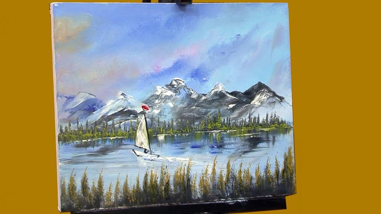 Cómo Pintar Un Paisaje / Pintura Al óleo / Parte 2