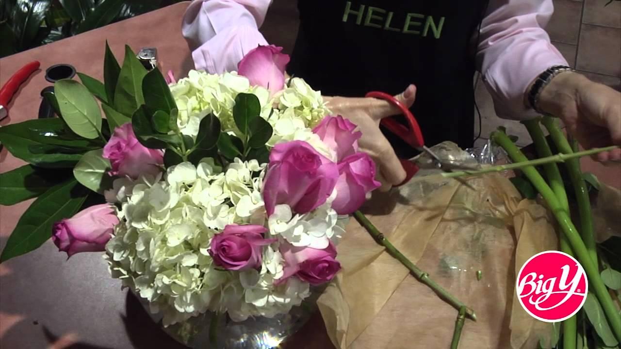 Hydrangea Rose  Asiatic Lily Arrangements  YouTube
