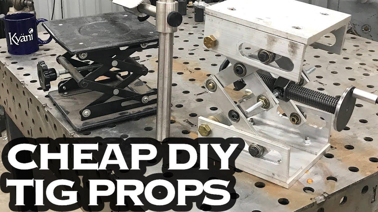 Cheap And Diy Tig Welding Prop Fixture Jig Tools Youtube