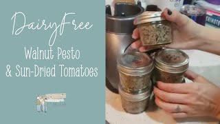 Cooking Tiny: Dairy-free Walnut Pesto and Sun-dried Tomatoes