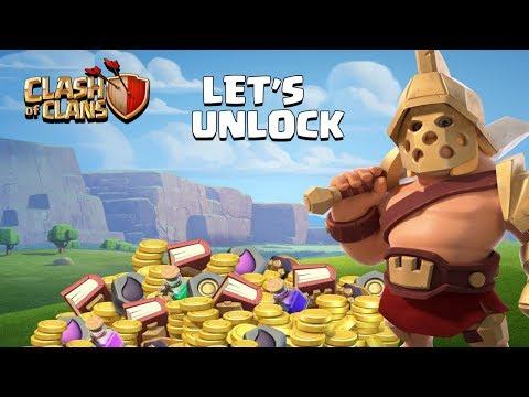 Let's Unlock Hero Skin (Gladiator King) Clash Of Clans - COC